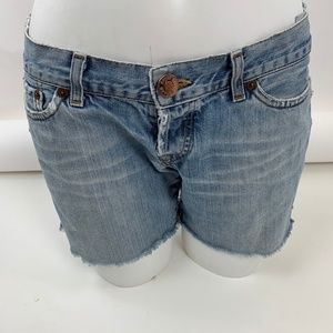 Lucky Brand Shorts - Lucky Lil Blossom Button Fly Cut Off Jeans 8/29